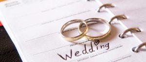 Fedi in platino per il matrimonio