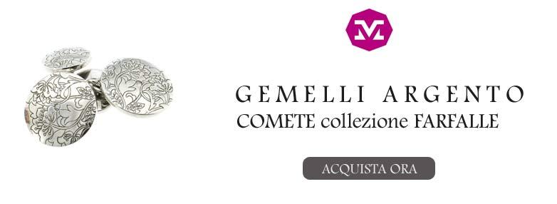 GEMELLI IN ARGENTO COMETE FARFALLE