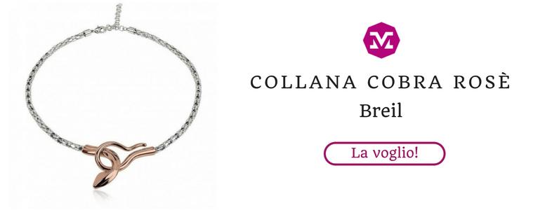 Collana Cobra rosa Breil