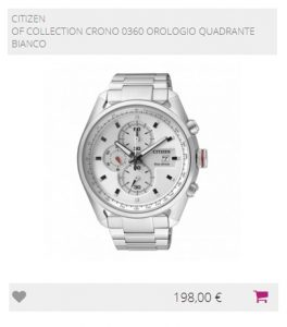 Citizen Of Collection Crono 0360 Orologio Quadrante Bianco