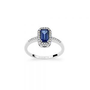 anello comete classic con zaffiro