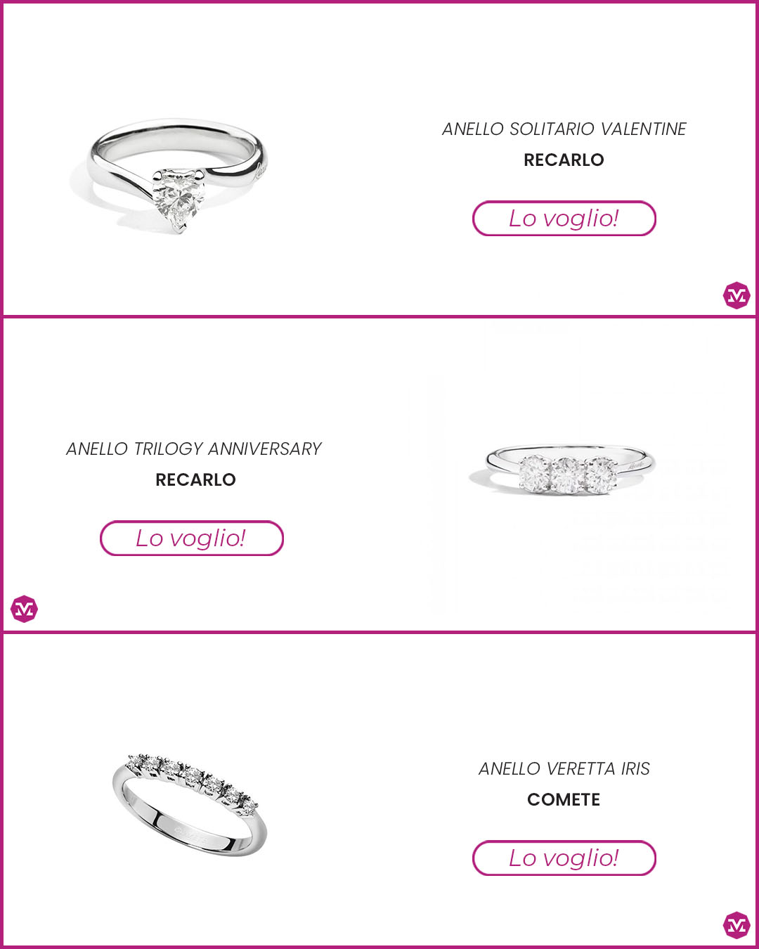 idea anello di fidanzamento
